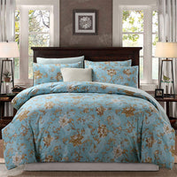 Softta Classic Luxury Bohemian Damask Floral 3Pcs California King Size(1 Duvet Cover+ 2 Pillowcases/Shams )Farmhouse Bedding Set 800 Thread Count 100% Egyptian Cotton Ocean Light Blue Duvet Cover Set