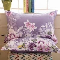 1 Piece 48cm*74cm Pillowcase 100% Cotton Beauty Floral Printing Pillow Case Cover For Bedroom Use XF626-9