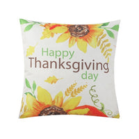 Sunflower Printed Decorative Pillow Case Linen Pillow  Cover Flower Pattern Square Polyester Pillowcase 450 * 450mm 2019 New