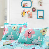 2Pcs Pillow Case Cotton decorative pillowslip pink white Flowers pillow cover capa de Bedding 48x74cm 30x50cm 48x120cm 48x150cm