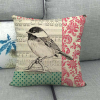 45cm*45cm singing bird design linen/cotton throw pillow covers