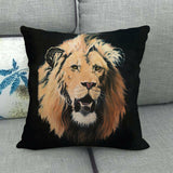 45cm*45cm Lions and leopards design linen/cotton throw pillow covers