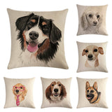 45cm*45cm pet dog design linen/cotton throw pillow covers couch cushion cover