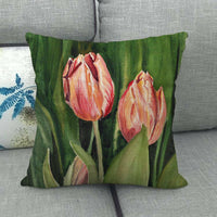45cm*45cm Lilies and fields design linen/cotton throw pillow covers