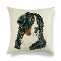 45cm*45cm ernese Mountain Dog linen/cotton throw pillow covers cushion cover