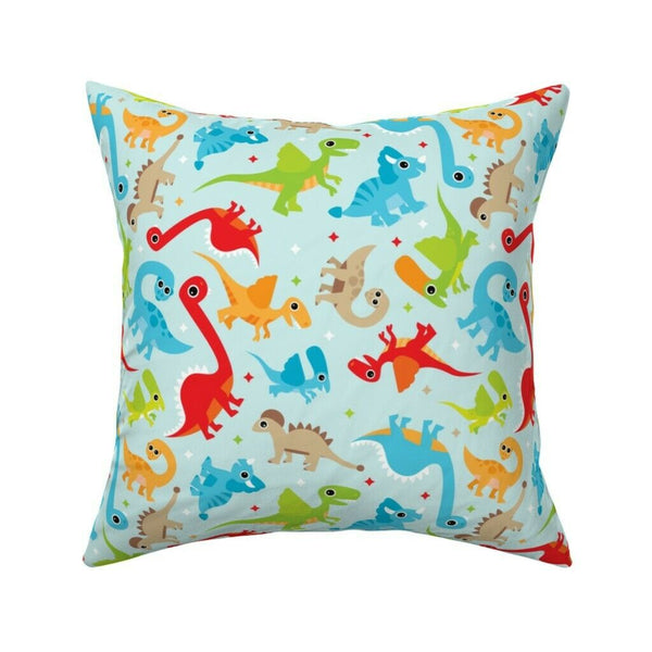 Dinosaur Home Decor Boy Dino Throw Pillow Cover w Optional Insert by Roostery