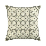 45cm*45cm Light color Geometry linen/cotton throw pillow covers