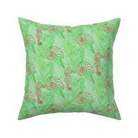 Fish Beach Christmas Xmas Throw Pillow Cover w Optional Insert by Roostery