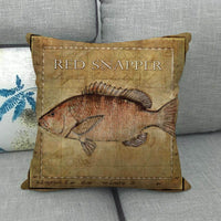 45cm*45cm fish design linen/cotton throw pillow covers couch cushion cover