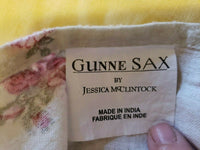 VTG JESSICA MCCLINTOCK GUNNE SAX PINK ROSES FLORAL TWIN SHEET SET & PILLOWCASE
