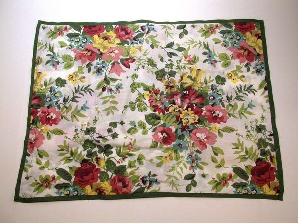 (1) Laura Ashley Floral Pillow Sham ~ Green Multi ~ Standard NEW