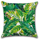 Africa Tropical Plant Printed Cushion Cover Green Leave Linen Throw Pillow Cases
