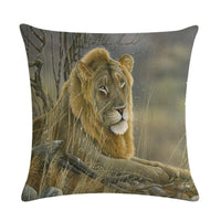 45cm*45cm A natural animal in oil painting linen/cotton throw pillow covers