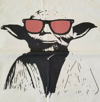 "Very Cool YODA Wearing Sunglasses Linen Throw Pillow Cover 18"" US Seller"