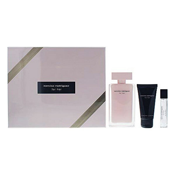 Set de Parfum Femme For Her Narciso Rodriguez EDP (3 pcs)