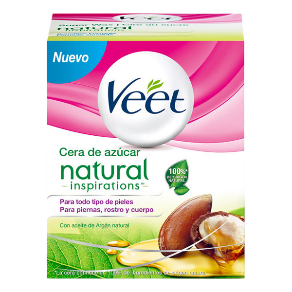 Pot de Cire Dépilatoire Tiède Natural Inspirations Veet 250 ml