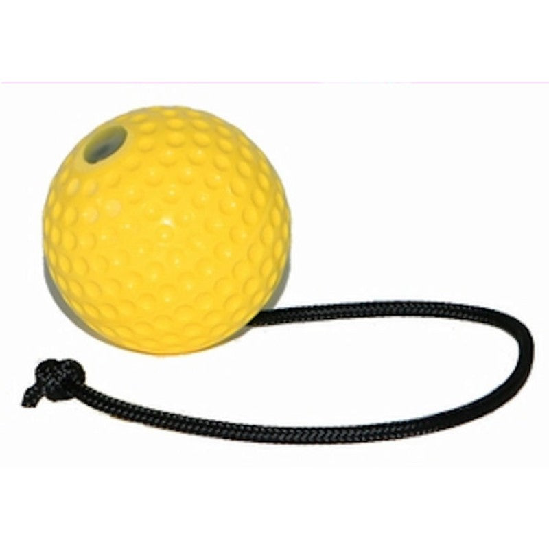 Yellow Super Ball Met Touw