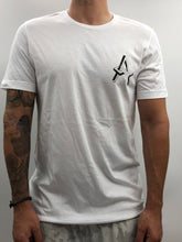 Load image into Gallery viewer, Atreyu White Distressed Chest Logo Tee