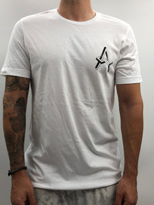 Atreyu White Distressed Chest Logo Tee