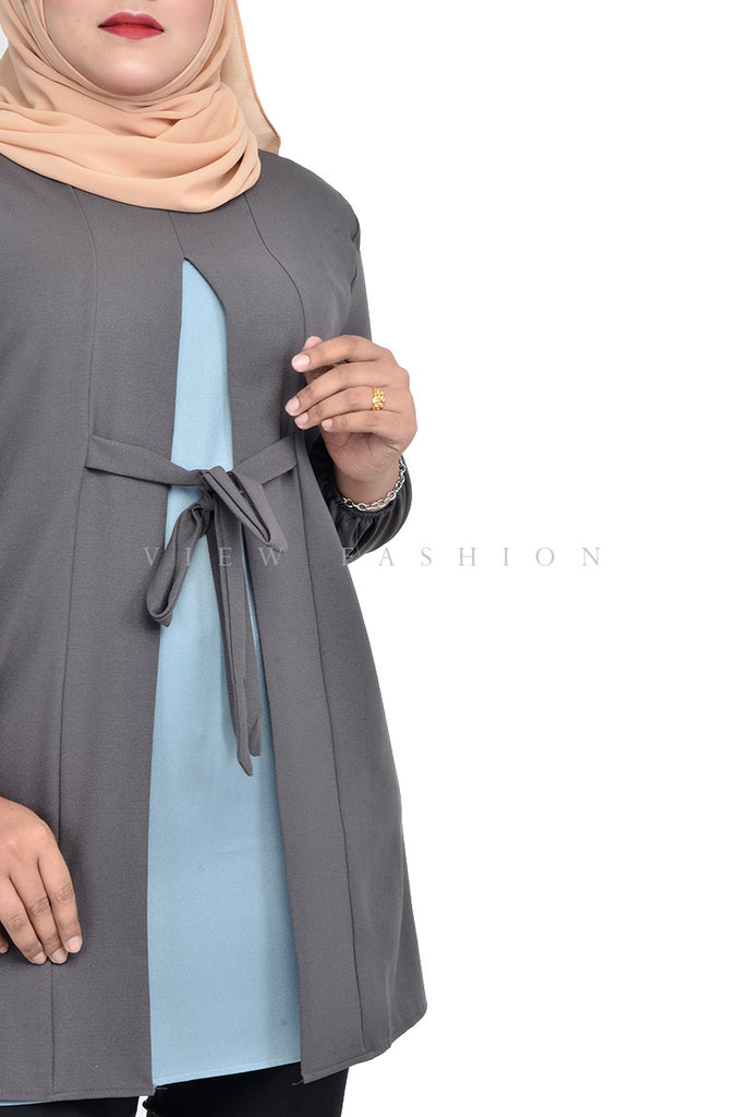 Sweet Sleeves Tunic With Tie
