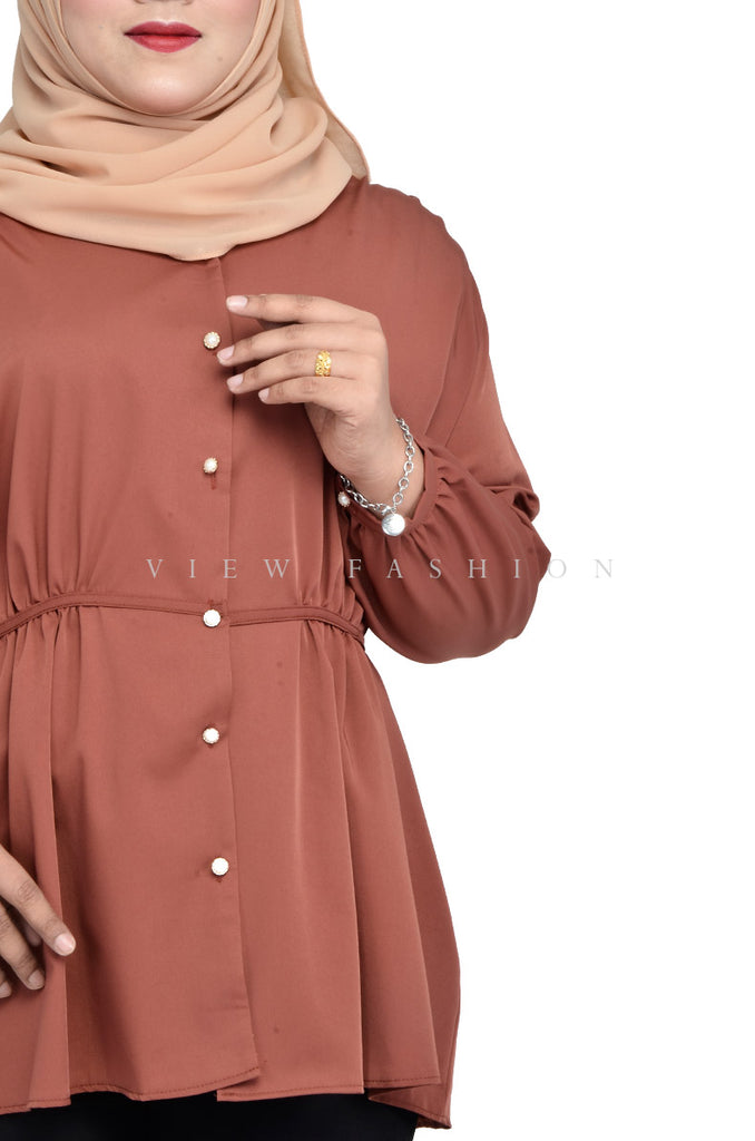 Sweet Tie Back Long Sleeves Top