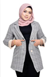 Trendy Checkered Blazer