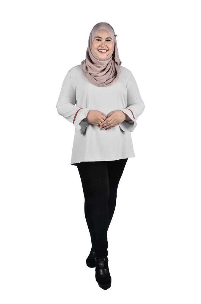 Plain Bell Sleeve Blouse