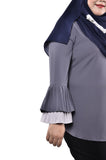 Double Pleated Sleeve Top