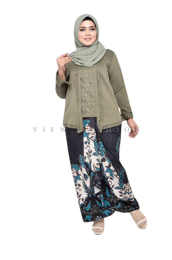 Maryam Kebaya Set In Olive Green