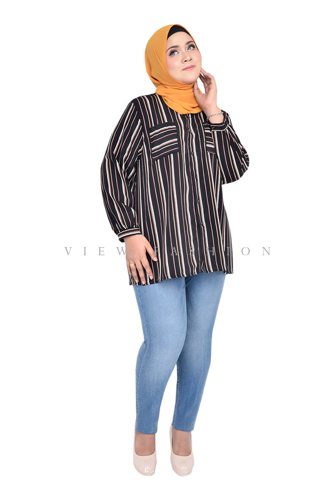 Straight Striped Blouse