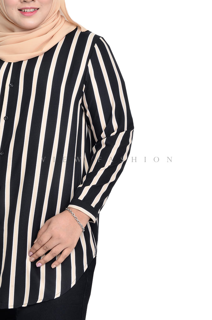 Button Up Stripe Top