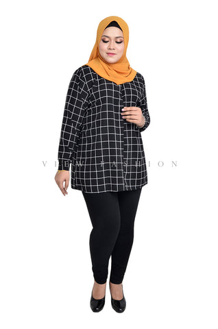 Casual Grid Printed Blouse