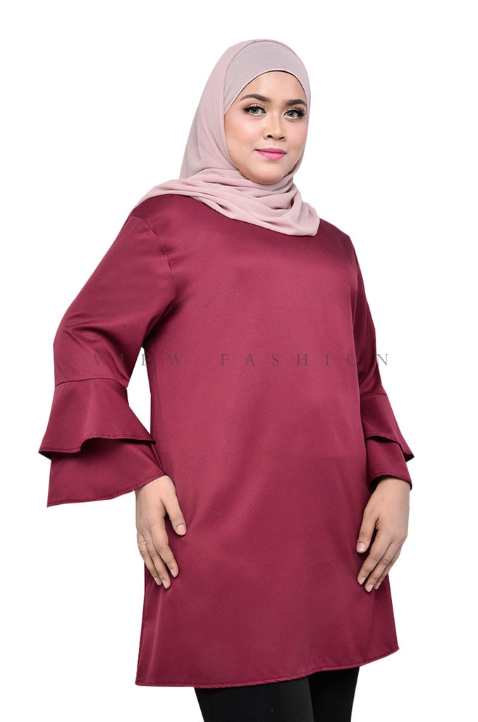Long Flared Blouse
