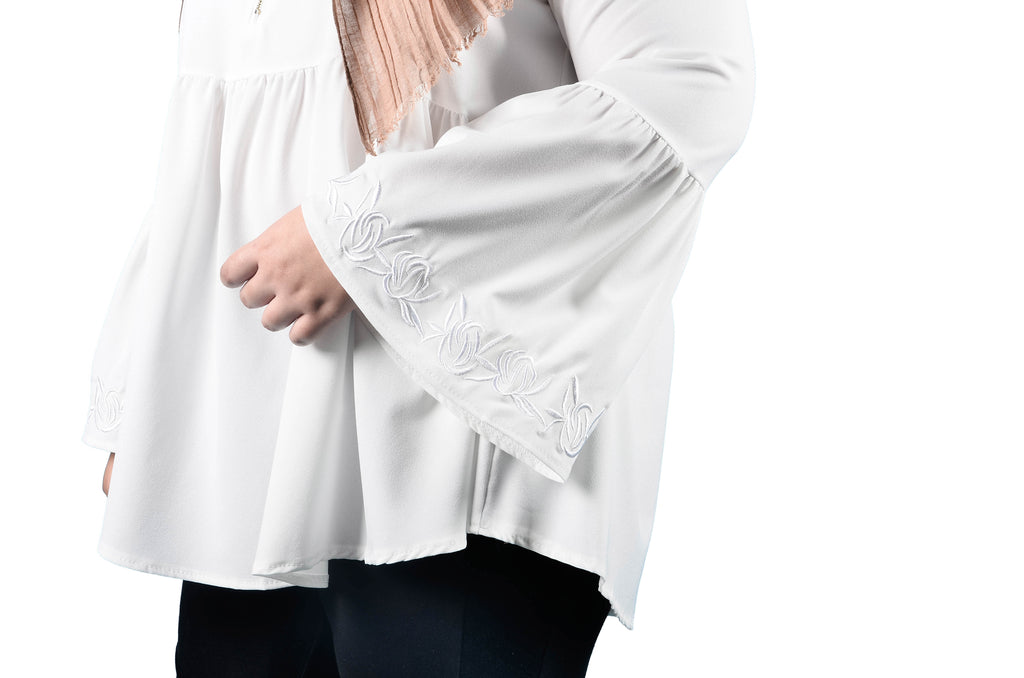 Embroidered Sleeve Blouse