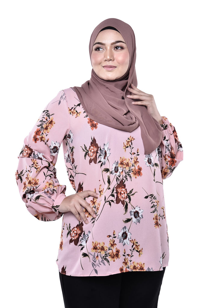 Showy Flower Blouse