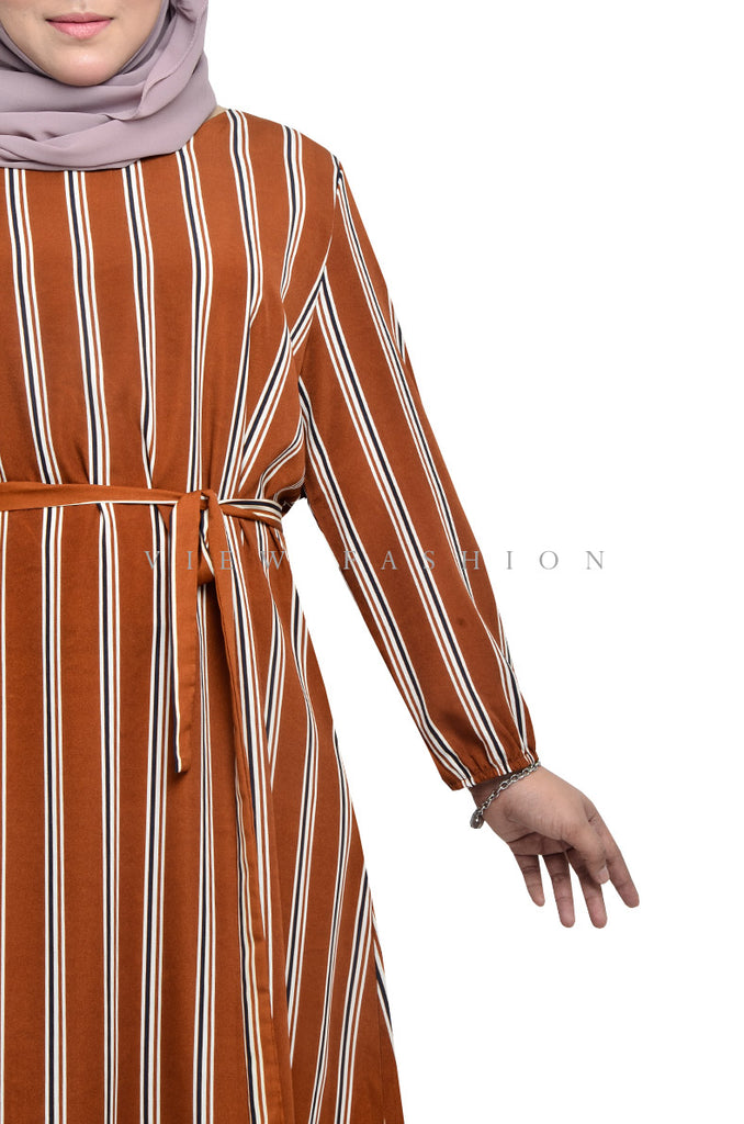 Retro Striped Dress