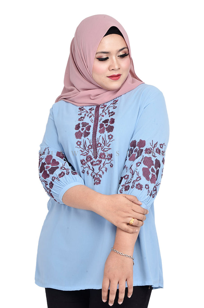 Half Sleeve Embroidery Blouse