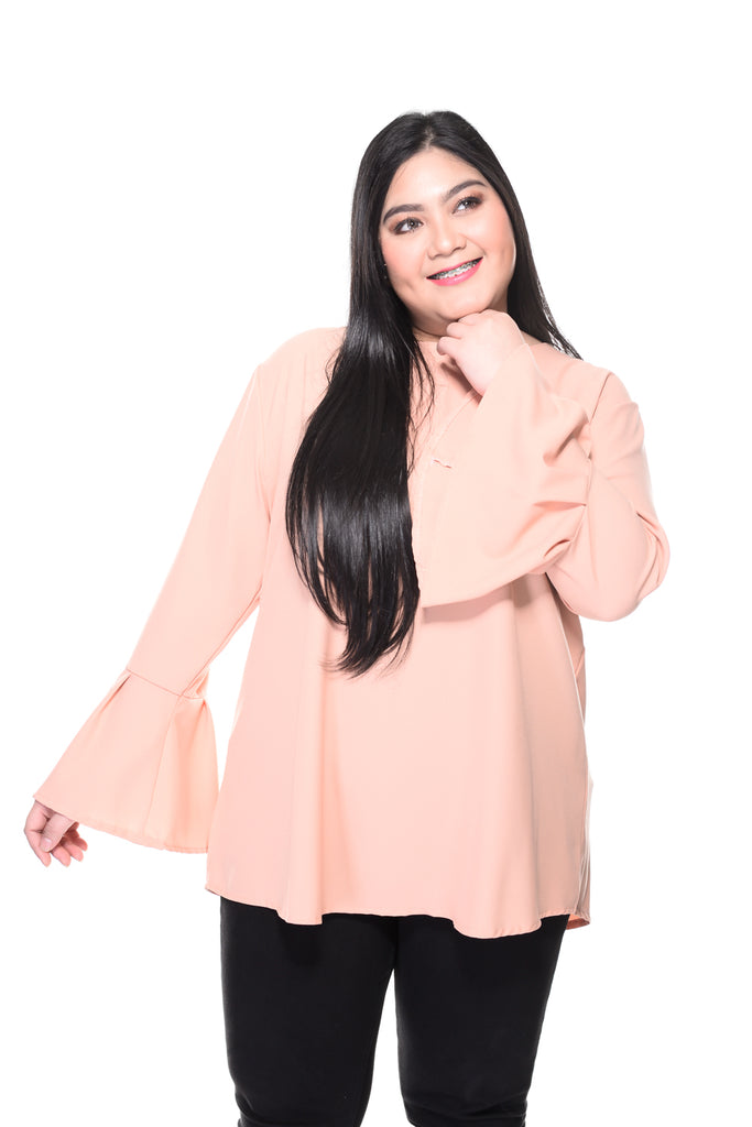 Plain Bell Sleeve Top