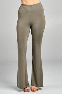 Ladies fashion bell bottom rayon spandex jersey long pants - FitBeautyTrends