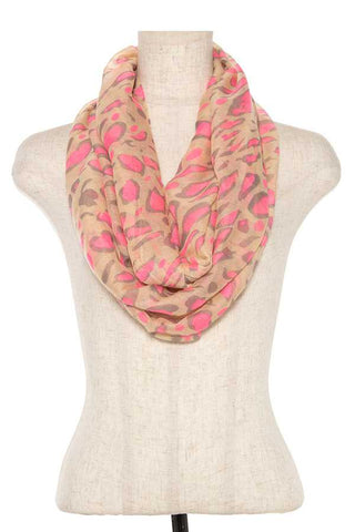 Neon color animal print infnity scarf - FitBeautyTrends