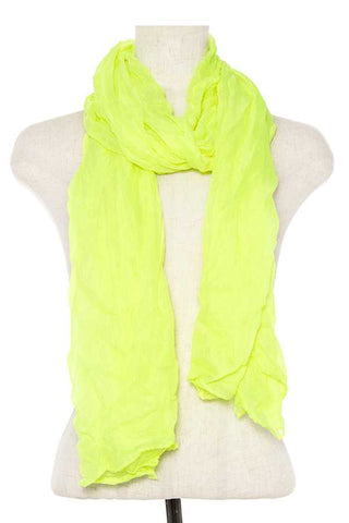 Wrinkled solid oblong scarf - FitBeautyTrends