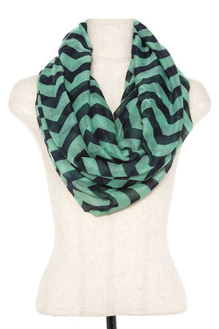 Striped infinity scarf - FitBeautyTrends