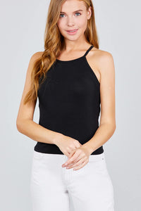 Halter Neck Knit Top - FitBeautyTrends