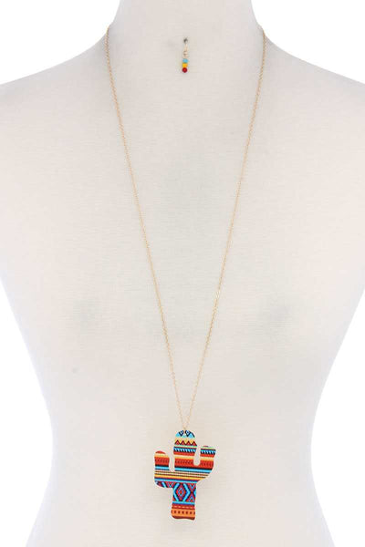 Cactus Pendant Necklace - FitBeautyTrends
