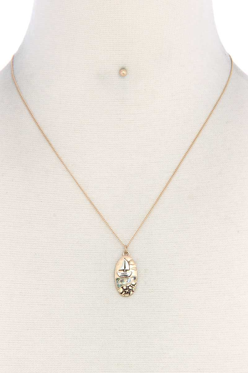 Boat Oval Shape Necklace - FitBeautyTrends