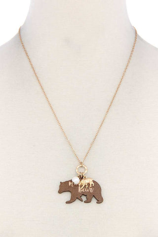 Mama Bear Double Charm Necklace - FitBeautyTrends