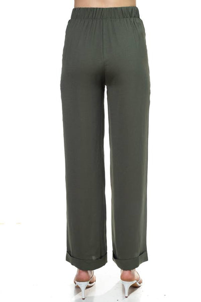 Double O-ring Zipper Up Pants - FitBeautyTrends