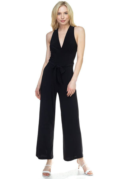 Strapless Belted Jumpsuit - FitBeautyTrends