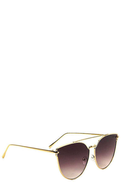 Cat Eye Aviators Color Mirror Sunglasses - FitBeautyTrends