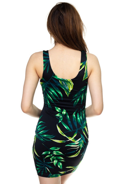 Tropical Print Mini Dress - FitBeautyTrends